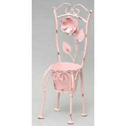 Кашпо-ваза (без декора) в форме стула розовая 45см