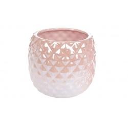 Кашпо керамическое 1.1л, цвет - розовый перламутр