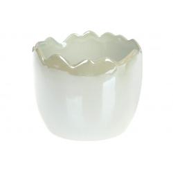 Декоративное кашпо 12см, цвет - мятный перламутр