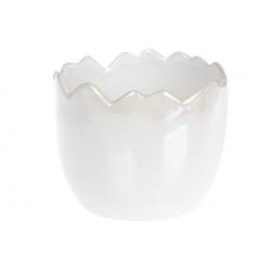 Декоративное кашпо 12см, цвет - белый перламутр