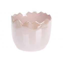 Декоративное кашпо 12см, цвет - розовый перламутр