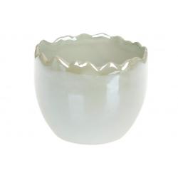 Декоративное кашпо 9см, цвет - мятный перламутр