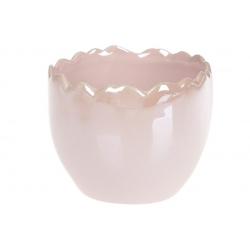 Декоративное кашпо 9см, цвет - розовый перламутр