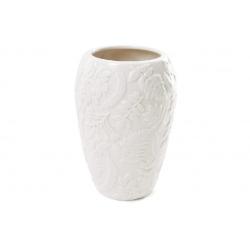Ваза фарфоровая с объемным декором Флора, 15.5см, цвет - белый