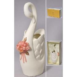 Ваза фарфоровая Лебедь 31.5см
