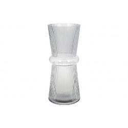 Стеклянная ваза Гамма 39см, цвет - светло-серый