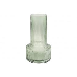 Стеклянная ваза Грин 34см, цвет - светло-зелёный
