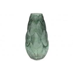 Ваза стеклянная Артишок, 35см, цвет - зеленый