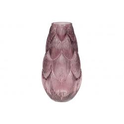 Ваза стеклянная Артишок, 35см, цвет - фиолет