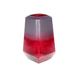 Ваза стеклянная Дайманд, 30см, цвет - марсала
